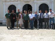 The 'Improving Access to Clean Energy in Rural Central America' team poses for a photo at the Universidad Nacional Autónoma de Nicaragua in March 2012.